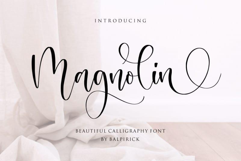 Magnolin Beautiful Calligraphy Font