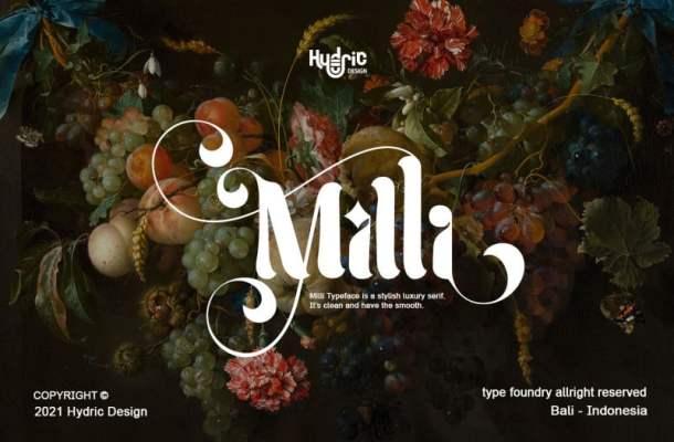 Milli Typeface