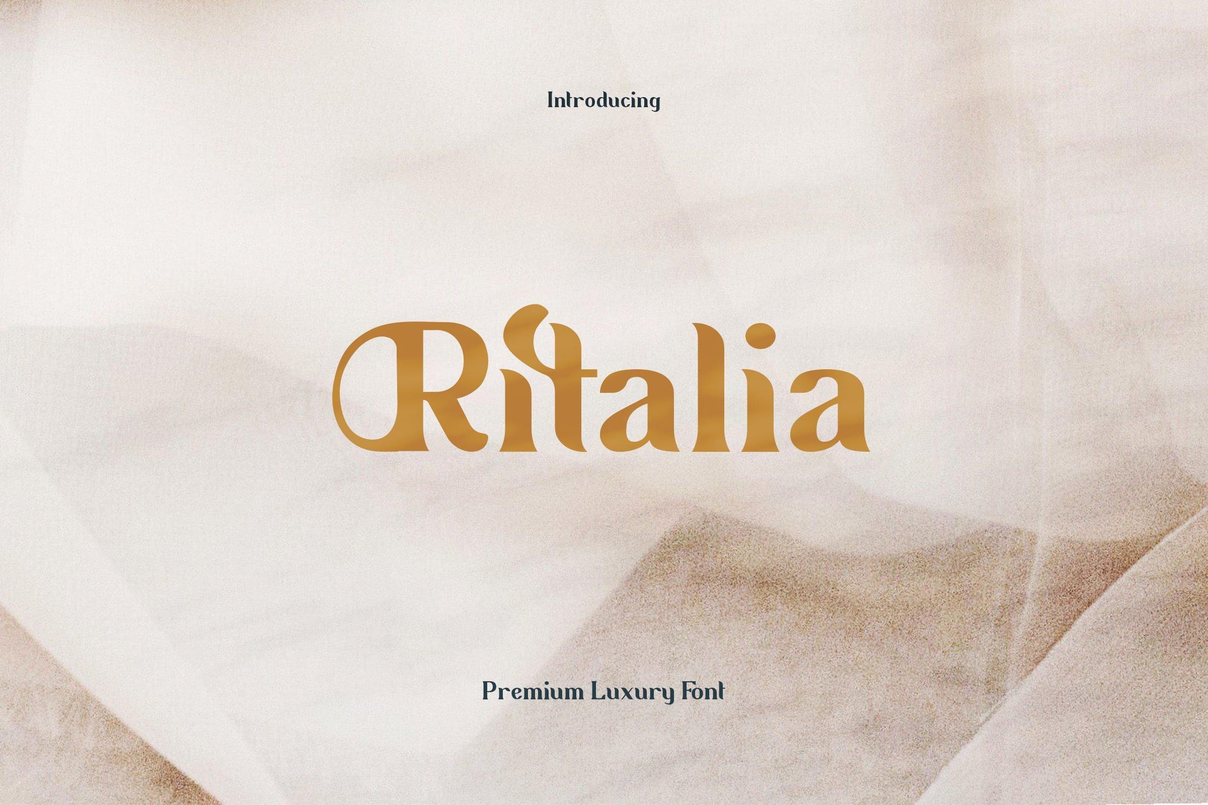 Ritalia Serif Font
