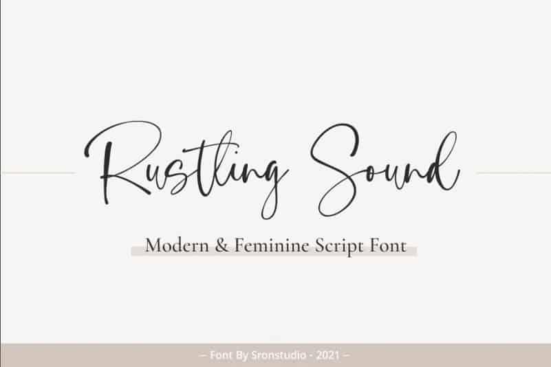 Rustling Sound Script Font