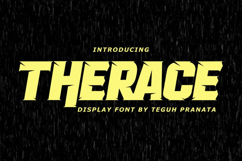 Therace Display Font