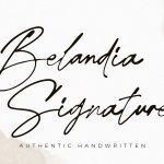 Belandia Signature Font