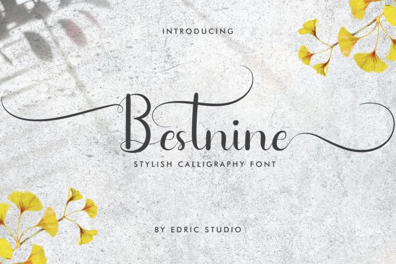 Bestnine Calligraphy Font