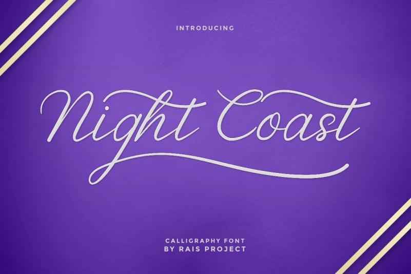 Nightcoast Script Font