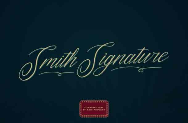 Smith Signature Font