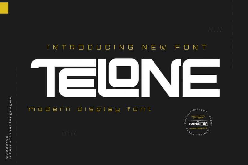 Telone Display Font