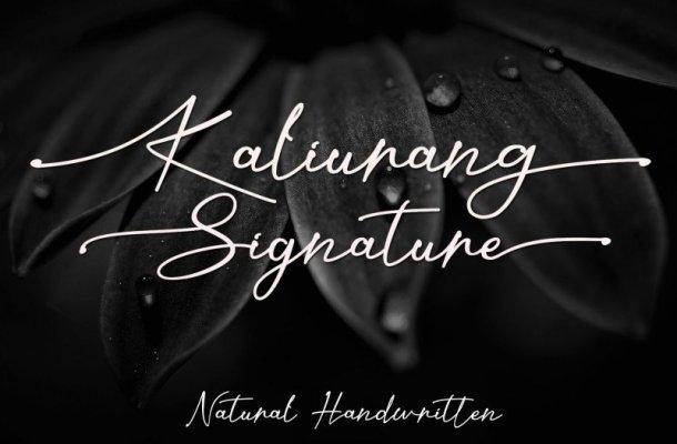 Kaliurang Signature Font