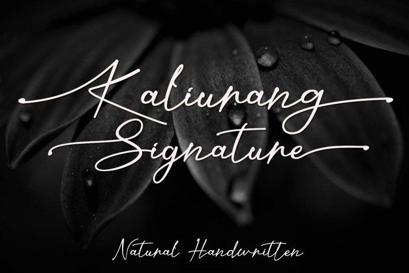 kaliurang-signature-font