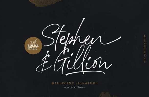 Stephen Gillion Font