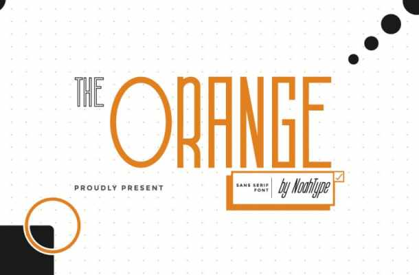 The Orange Font
