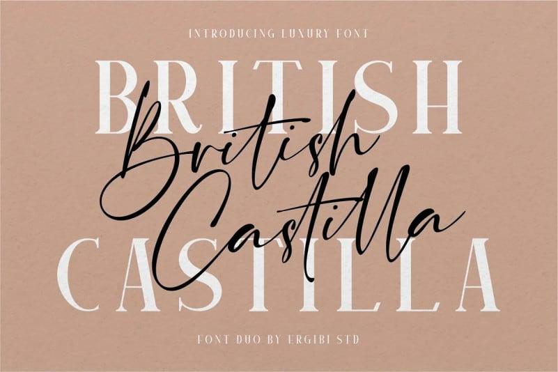 british-castilla-font