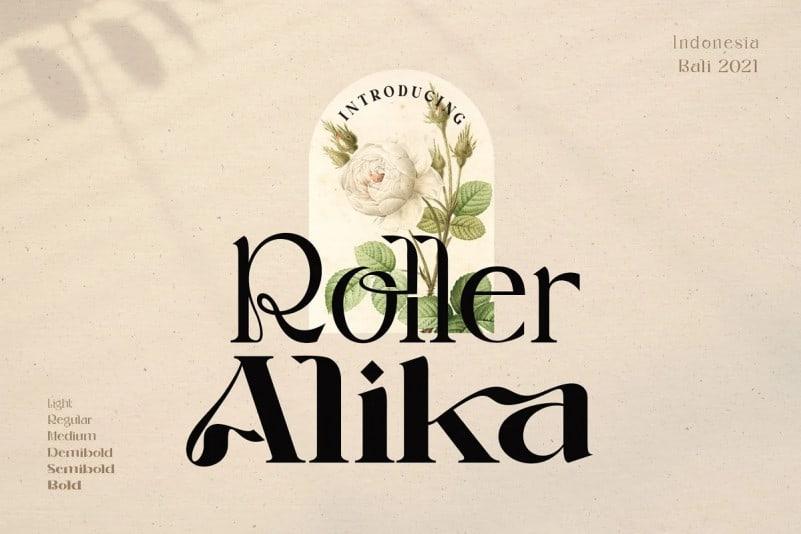roller-alika font