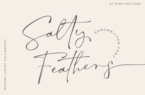 Salty Feathers Font