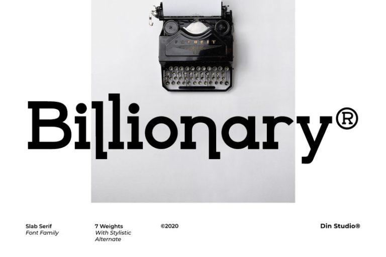 Billionary-Slab-Serif-Font
