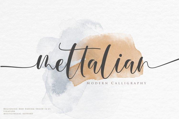 Mettalian Font