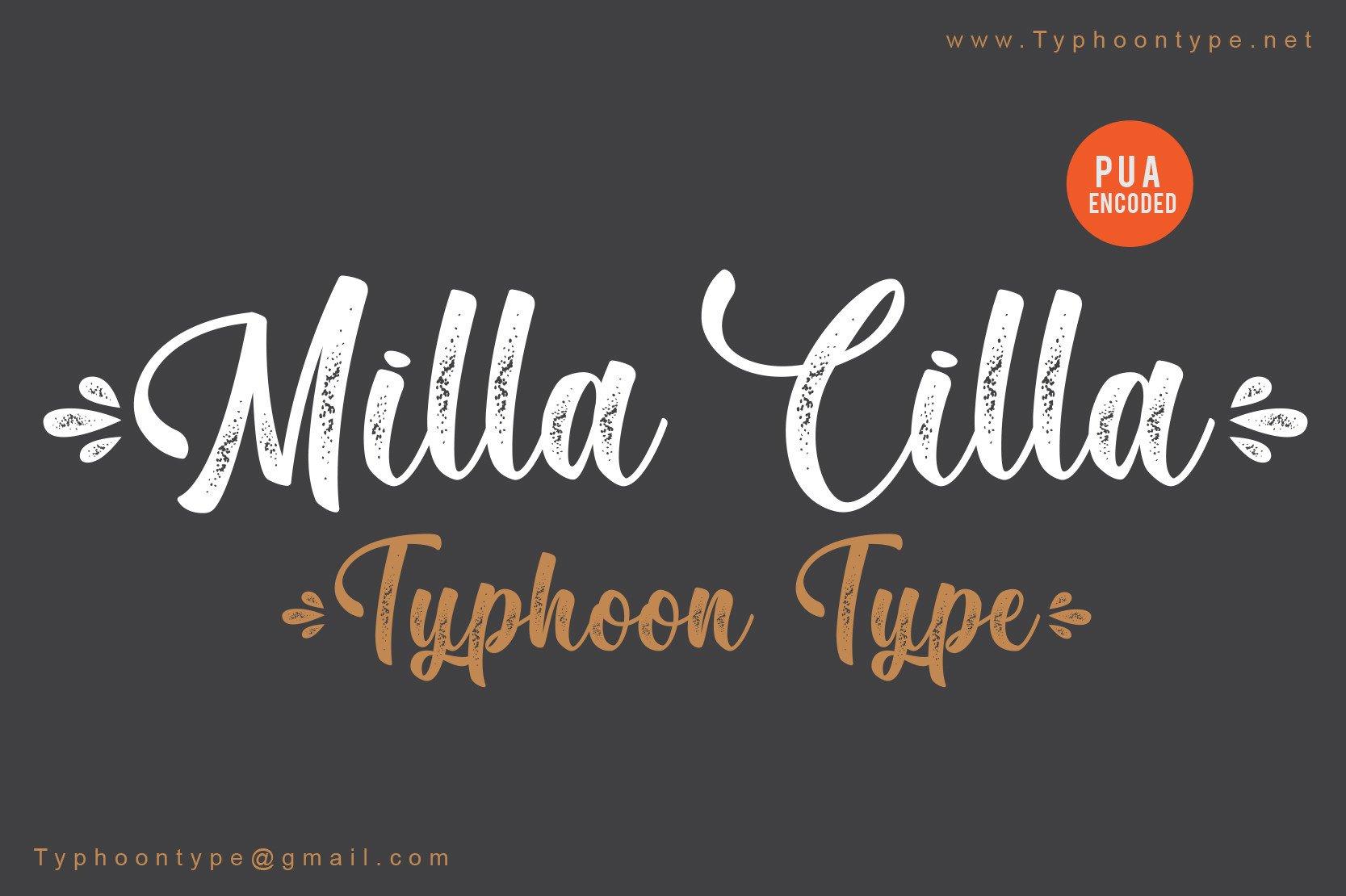 Milla-Cilla-Font