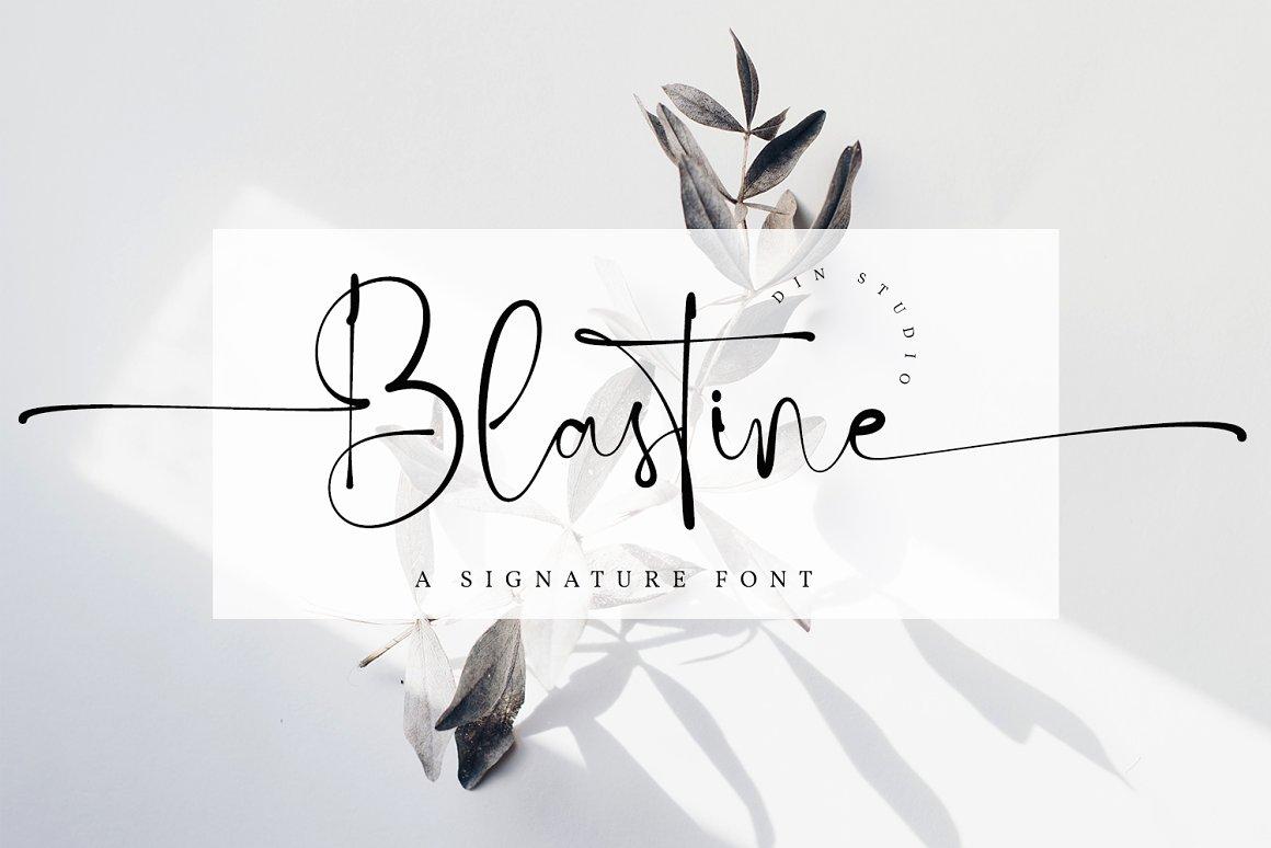 blastine-signature-font