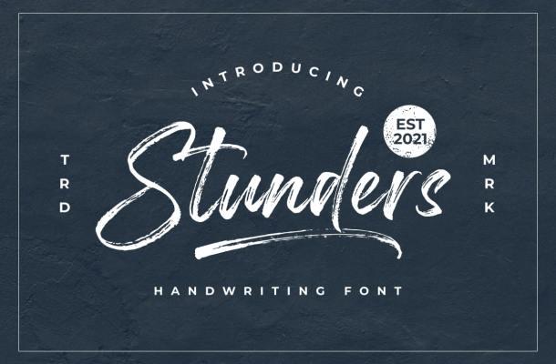 Stunders Font