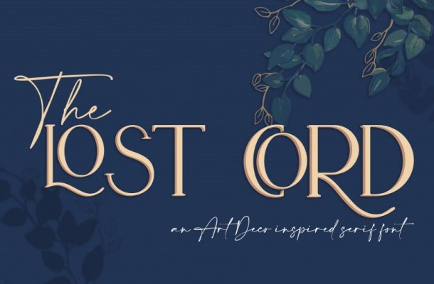The Lost Cord Font