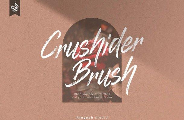Crushider Brush Font