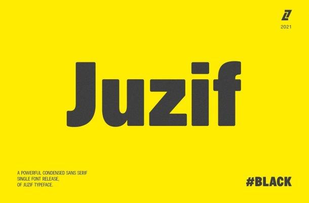 Juzif Black Font