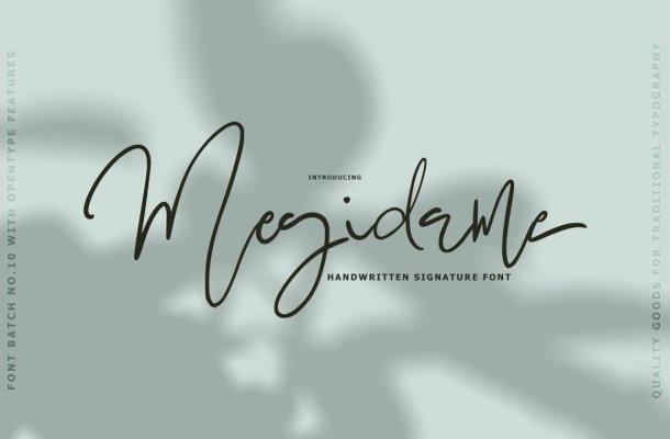 Megidame Signature Font