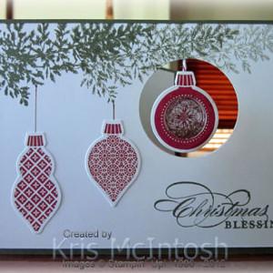 Dangling Ornament Christmas Card