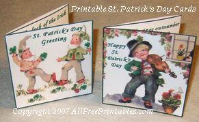 Free Printable St Patricks Day Greeting Cards