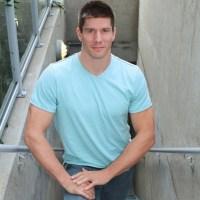 muscular recruit jerks off