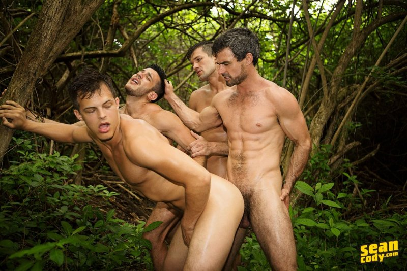 Raw Gay Outdoor Foursome 02