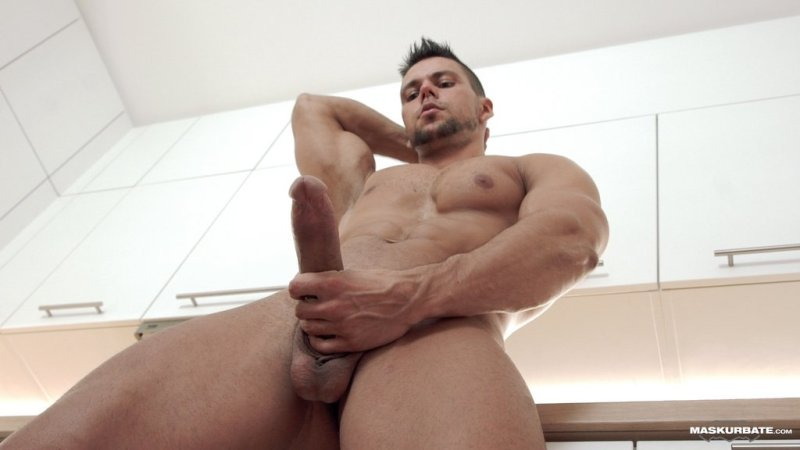 Hot Muscle Hunk Jerks off 02