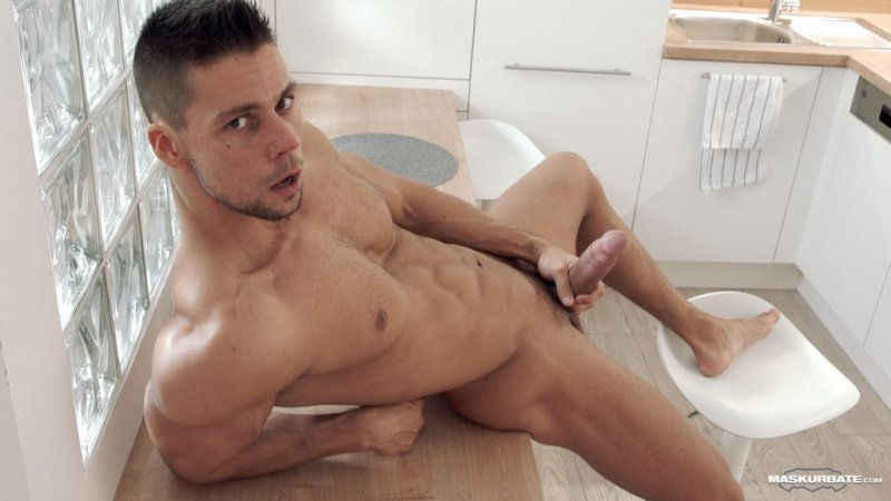 Hot Muscle Hunk Jerks off 04