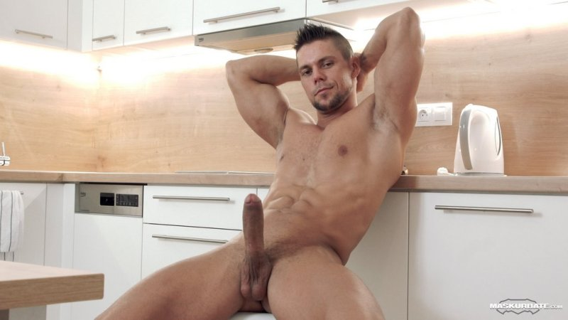 Hot Muscle Hunk Jerks off 06