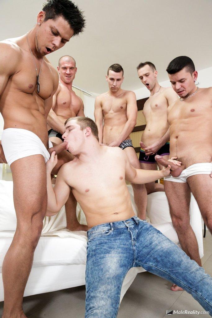 Carl Ross Sucking Five Big Dicks 03