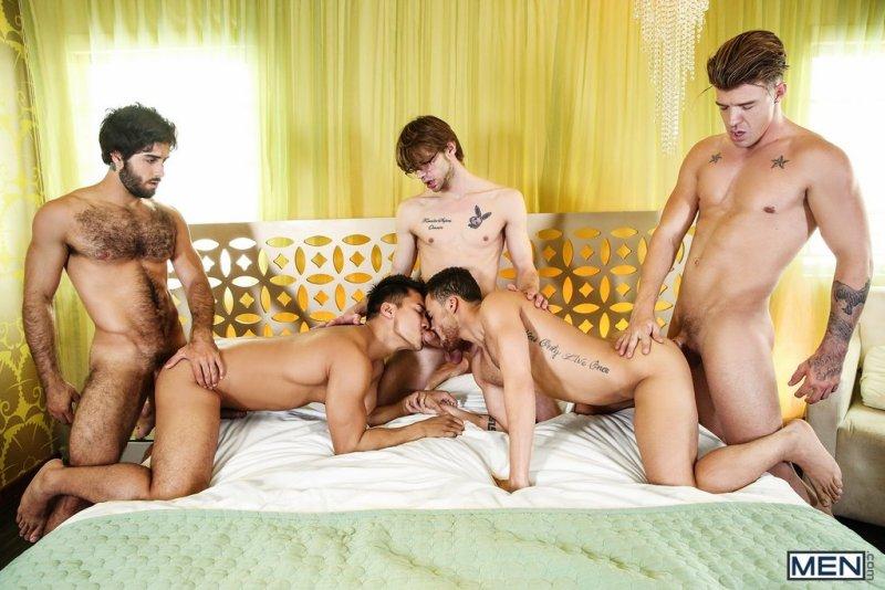 Five Horny Guys Fuck Hard 01
