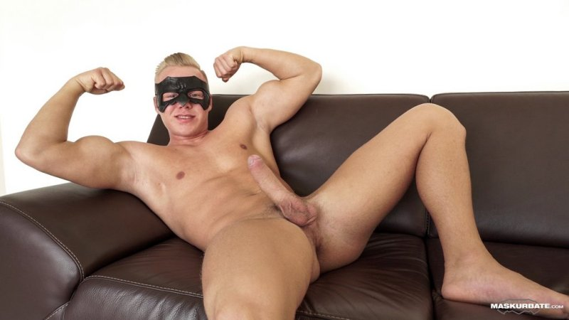 Blond Hunk Jerks his Uncut Cock 03