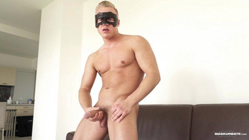 Blond Hunk Jerks his Uncut Cock 07