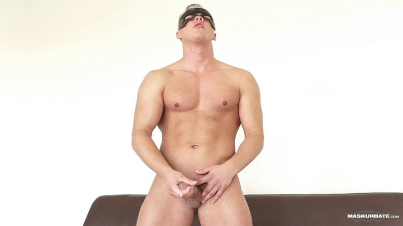 Blond Hunk Jerks his Uncut Cock 08