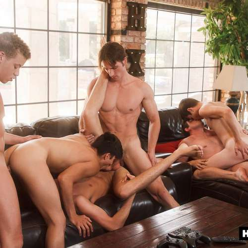 six hot boys fuck raw