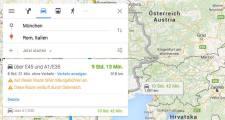 Google Maps warnt Autofahrer vor Fahrten durch Österreich