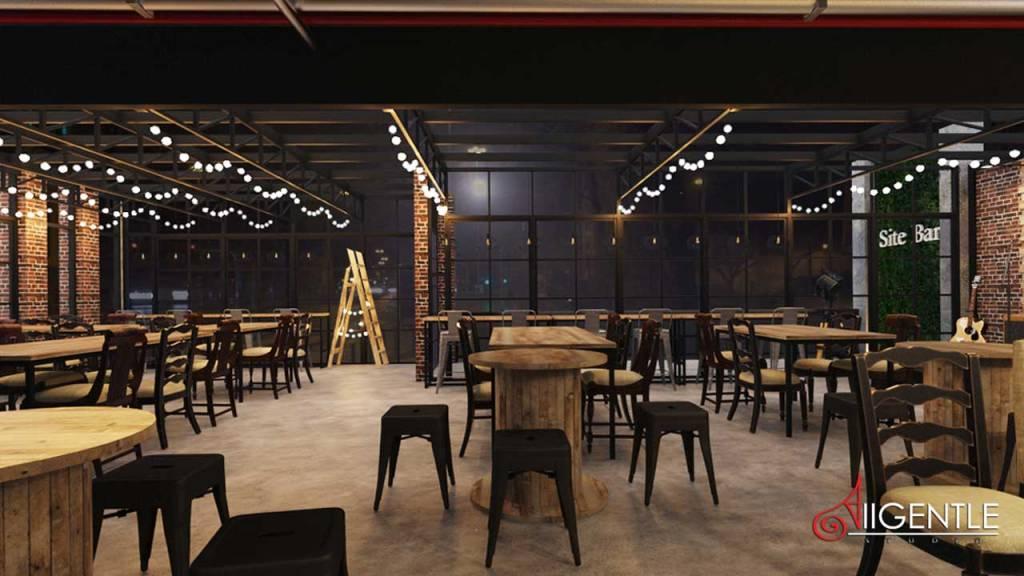 ออกแบบร้านเหล้า ร้านนั่งชิล รับออกแบบ3D