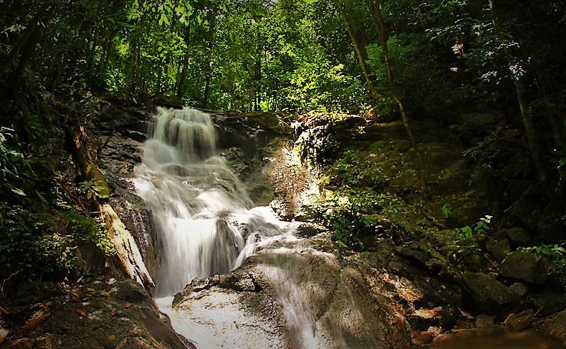 Kathu waterfall at Patong Town, Phuket, Thailand
