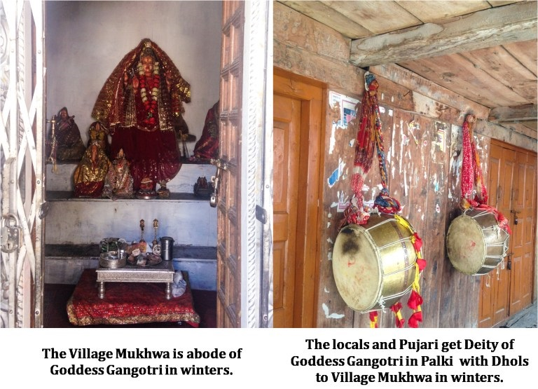 The Village Mukhwa is abode of Goddess Gangotri in Winters - near village Harsil