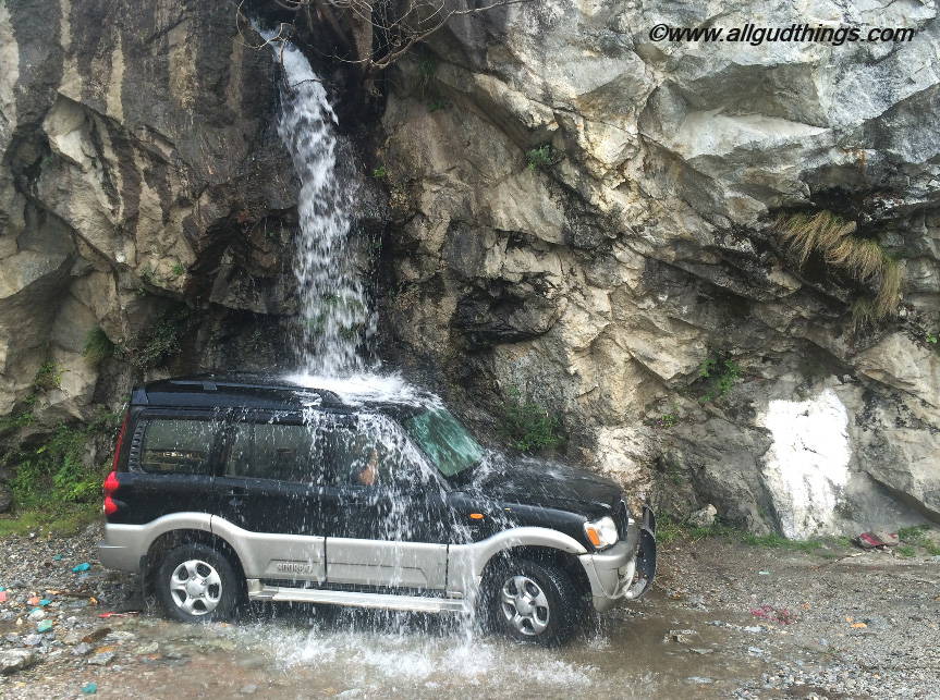 Car Wash at Sangla Valley, Kinnaur, Himachal