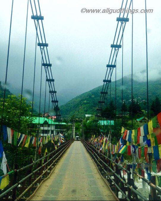 Old Manali Bridge - Leh Ladakh road trip from Delhi