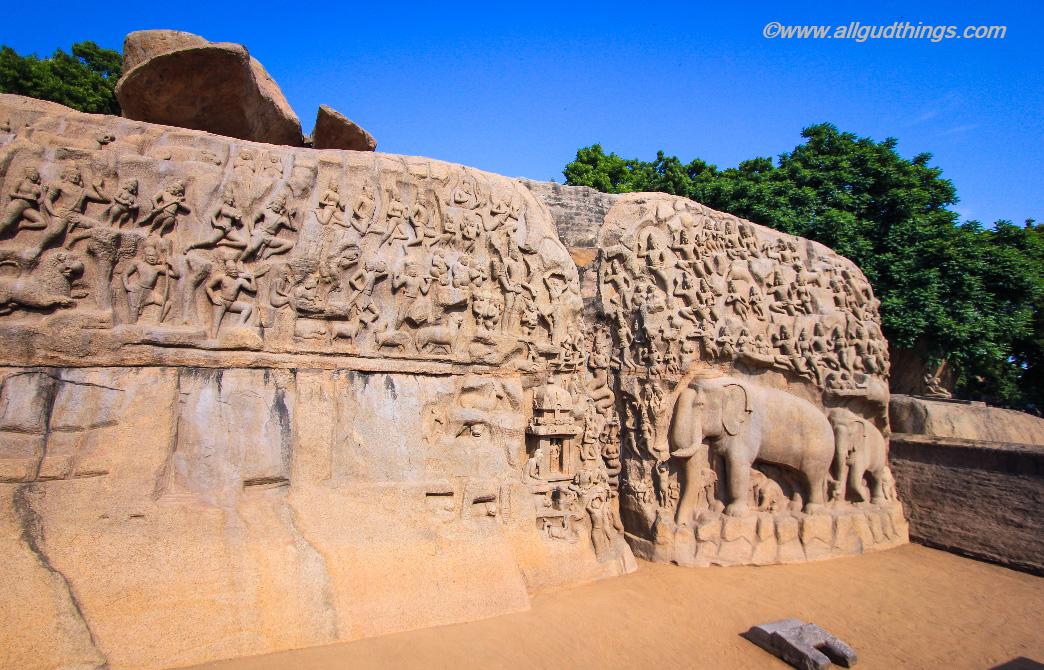 Arjuns Penance / Descent of Ganges: Mahabalipuram travel guide