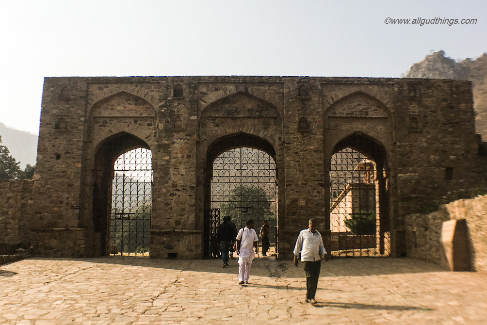 Entrance to haunted Bhangarh Fort