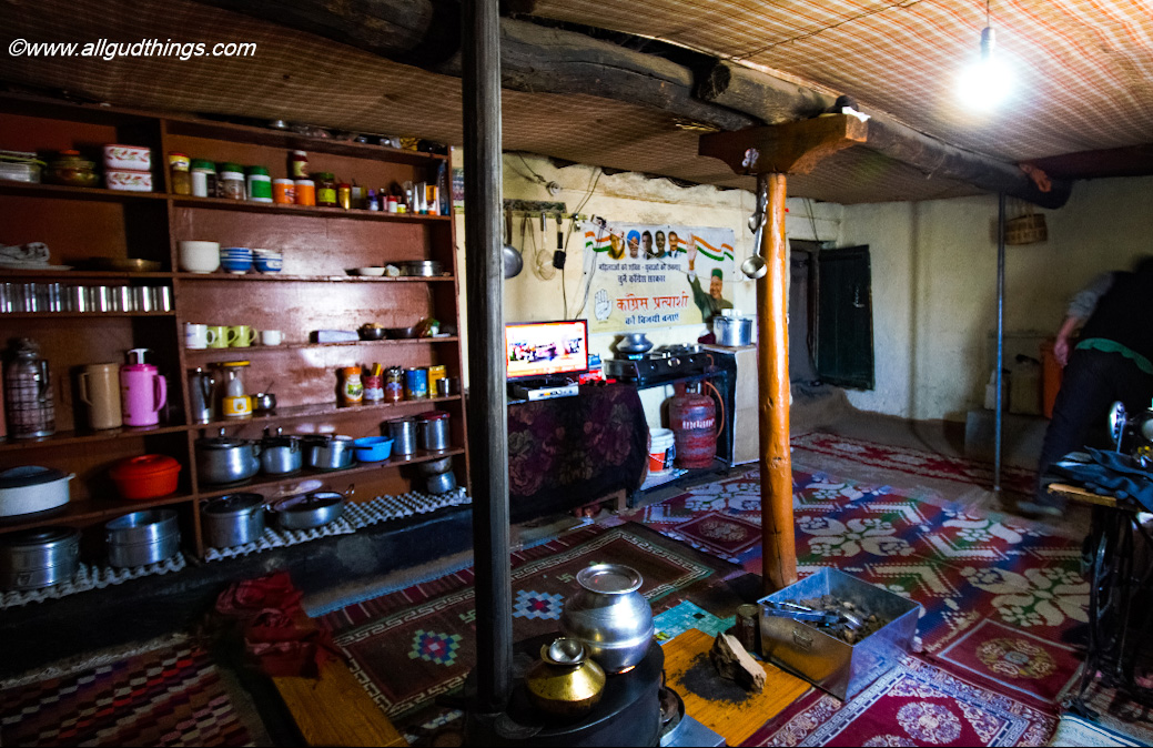 Kitchen of Spiti Houses -Fossil Village Langza