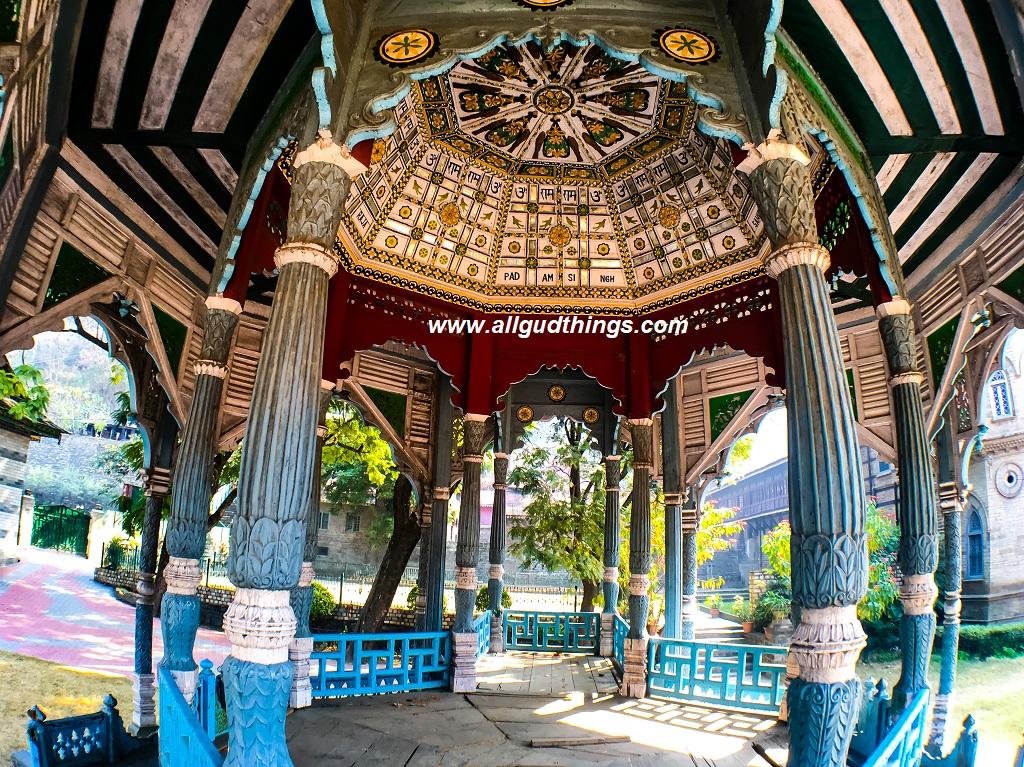 The dome of Machhkandi at Padam Palace, Rampur Bushahr