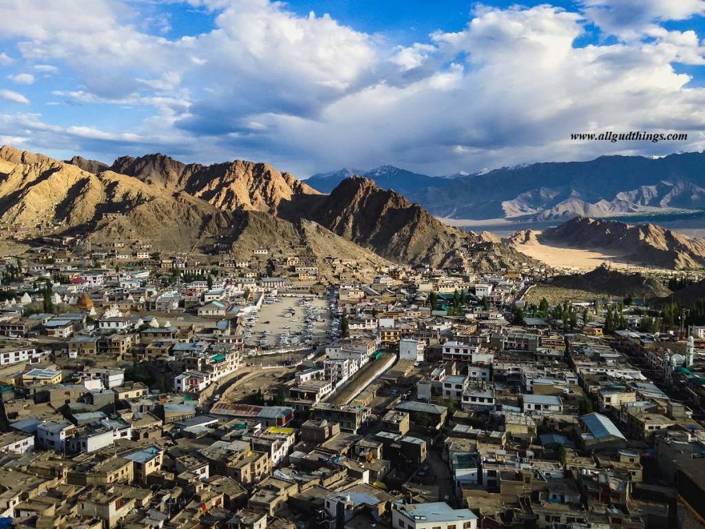 views of Leh Town from 7th Level of Leh Palace
